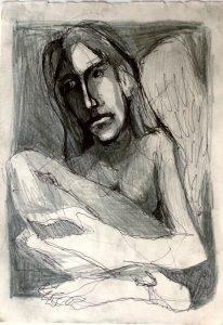 miro pribis - smutny anjel, kresba