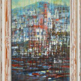 Ján-Bartko-Podvečer-v-prístave-olejomaľba-na-plátne-vytvarne-umenie