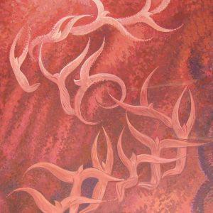 jaroslav staviscak - Abstraktný motív v červenom, 2007