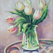 margita resovska - ruzove tulipany, 2016