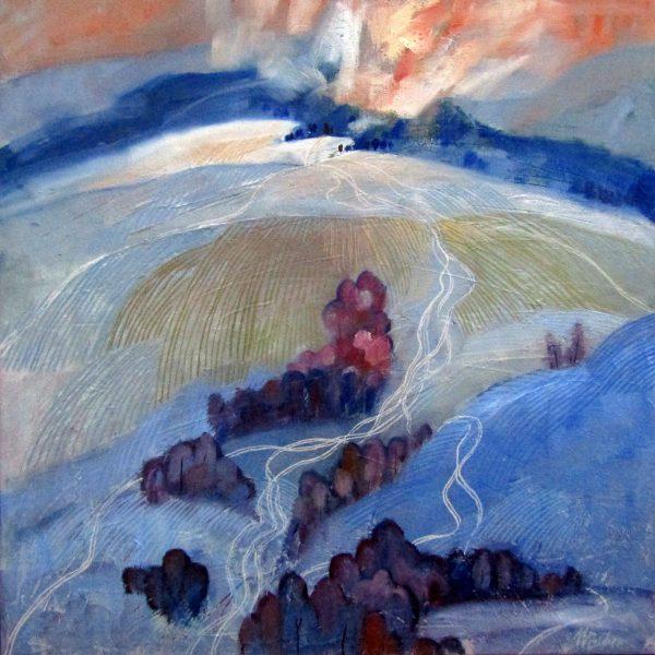 miroslav bucher - portret zeme - stopy v snehu