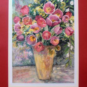 martina stecova - Ruzove tulipany, 2017