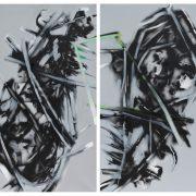 stano salko - zahrada, diptych ,akryl, 2016