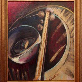 ladislav majorosi - polygon 5, olej na sololite, 1995