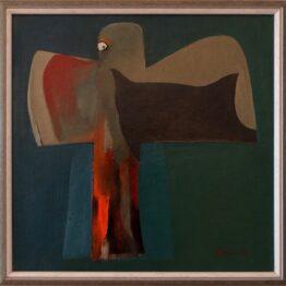 ladislav majorosi - strach, olej na sololite, 1989