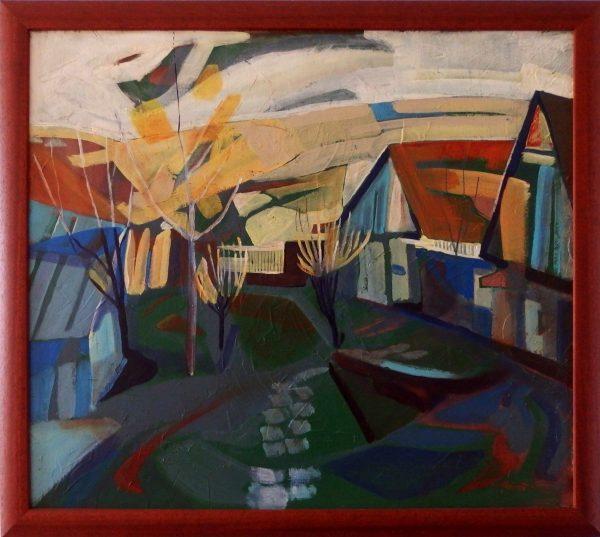 ladislav majorosi - zahrada, akryl na sololite, 2005
