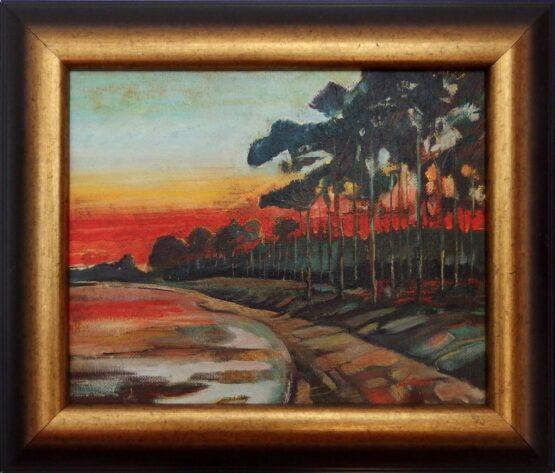ladislav majorosi - v zatoke, olej na sololite, 2005