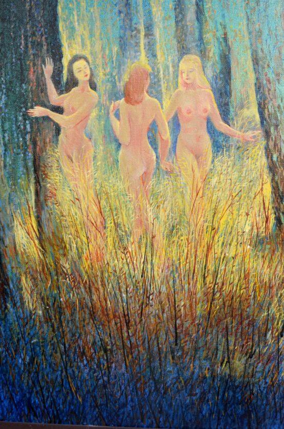 Ján-Bartko-Tri-Grácie-olejomaľba-na-plátne-120-x-80-cm-detail