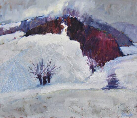 Miroslav-Bucher-Portrét-zeme-Balážka-v-zime-olejomaľba-na-plátne