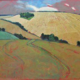 Miroslav-Bucher-Portrét-zeme-Ostrov-olejomaľba-na-plátne