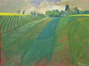 Miroslav-Bucher-Portrét-zeme-Polia-olejomaľba-na-plátne