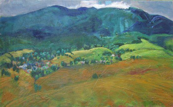 Miroslav-Bucher-Portrét-zeme-Poloniny-olejomaľba-na-plátne