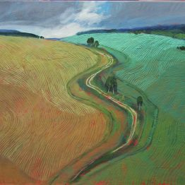 Miroslav-Bucher-Portrét-zeme-Uprostred-olejomaľba-na-plátne