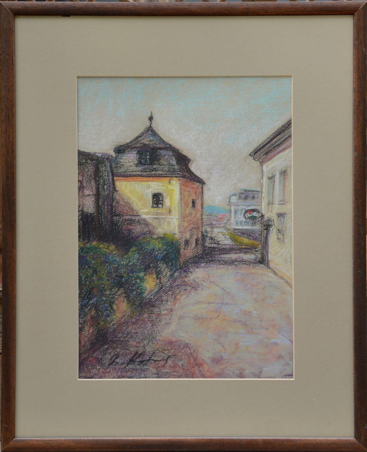 Rastislav Kotal – Ku kumštu, suchý pastel na papieri, 39 x 27,5 cm, 58 x 46,5 cm s rámom, 2016