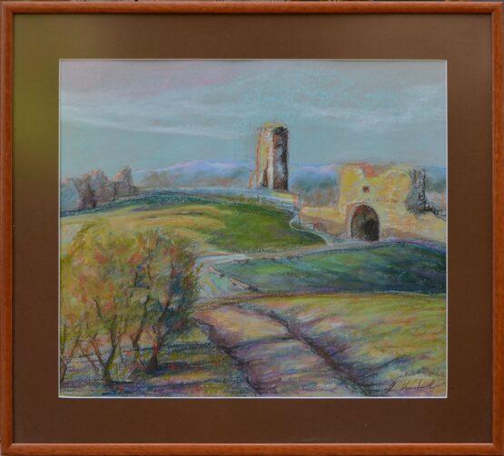 Rastislav-Kotal-Na-šarišskom-hradnom-vrchu-suchý-pastel-na-papieri