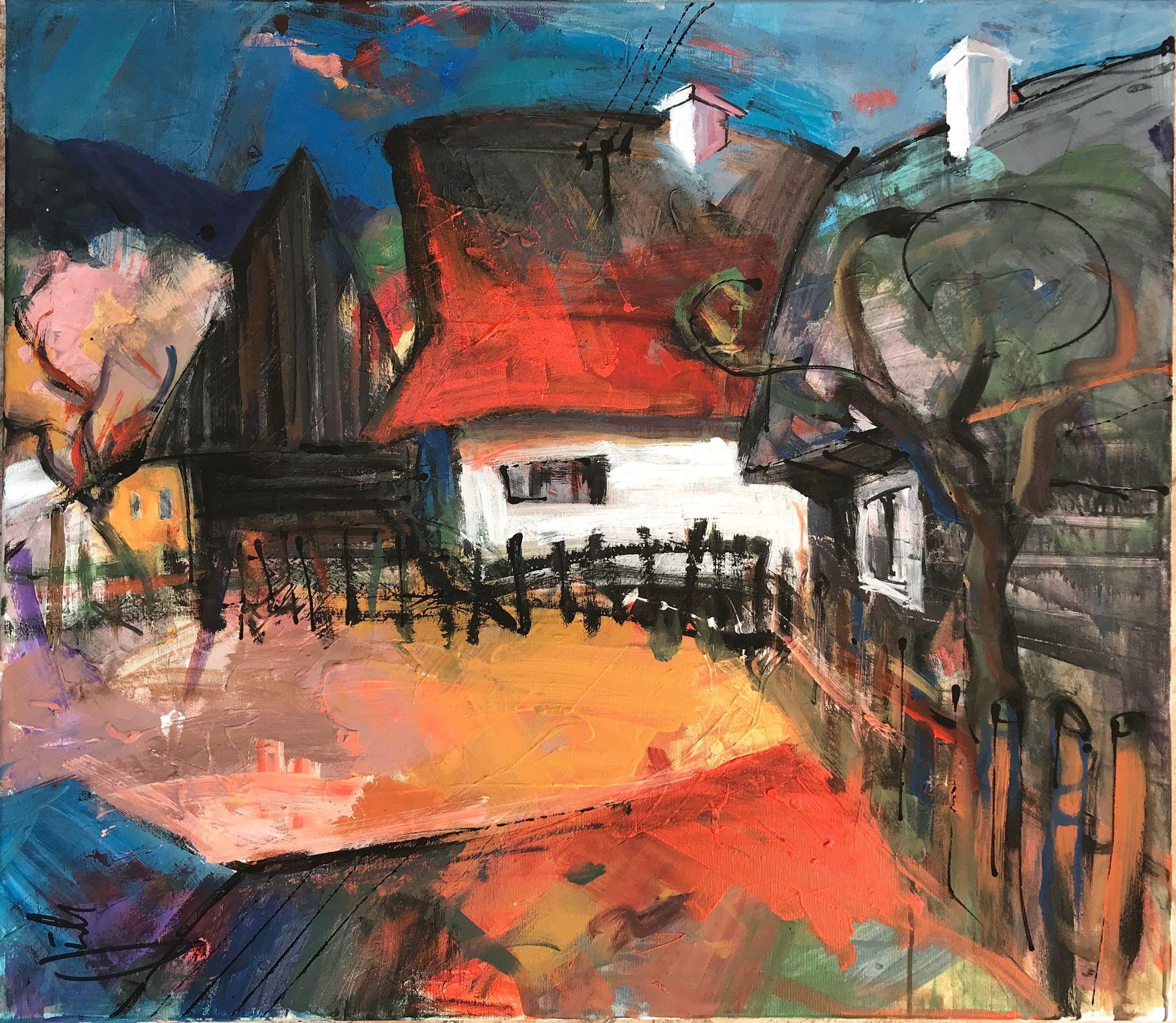 Jonsy Gáll – Liptov, akryl na plátne