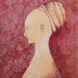 Miriam-Kavuličová-Tomašiaková-Venované-Simonette-Vespucci-autorská-technika-na-plátne-dielo