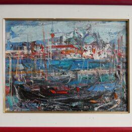 Hubert-Čepiššák-Benatky-Canal-Grande-olejomaľba-na-plátne-dielo
