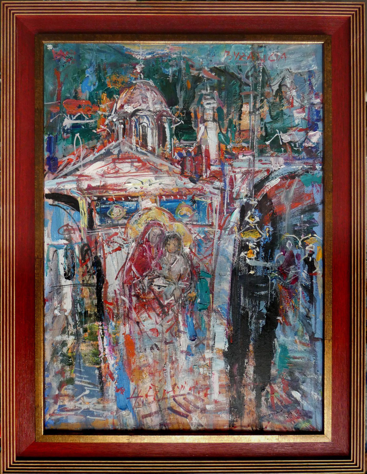 Hubert Čepiššák – Byzancia, olejomaľba na plátne, 70 x 50 cm, 2019