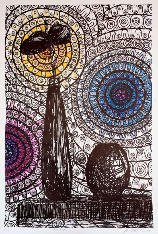 Miriam-Kavuličová-Tomašiaková-Bez-názvu-3-linoryt-kolorovaný-akvarelom-papier-dielo
