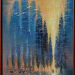 Ján Bartko - Samota, olejomaľba na sololite, 100 x 70 cm, ram, 2018