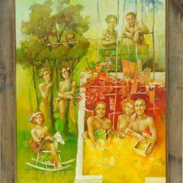 Ján-Koválik-Na-piesočku-olejomaľba-na-plátne-umelecke-dielo