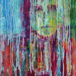 Miro Pribiš - Slzy v daždi, acryl, olej, plátno na doske, 55 x 45 cm, 2020