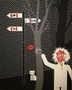 Richard-Otott-the-Cure-sublimačná-tlač-na-plátne-umelecke-dielo
