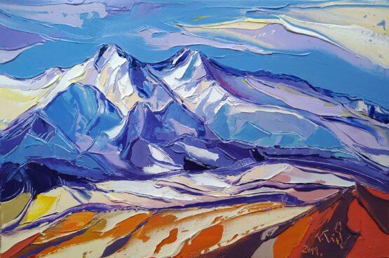 Tomáš-Turzák-Prvý-sneh-v-Belianskych-Tatrách-akryl-na-plátne-umelecke-dielo