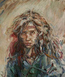 Gabriel-Kurák-Johanka-olejomaľba-na-doske-umelecke-dielo