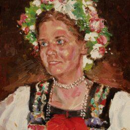 Gabriel-Kurák-Nevesta-olejomaľba-na-plátne-slovensky-maliar