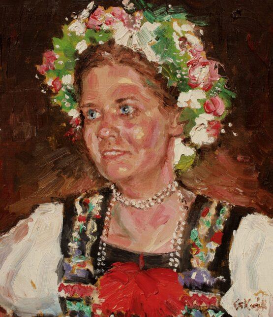 Gabriel-Kurák-Nevesta-olejomaľba-na-plátne-slovensky-maiar