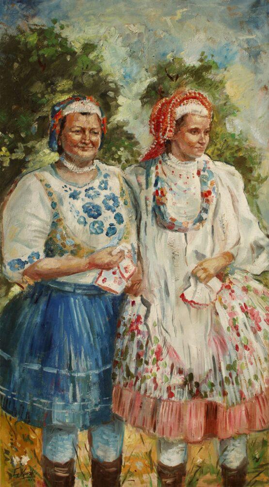 Gabriel-Kurák-Príbeľčanky-olejomaľba-na-plátne-slovenske-umenie
