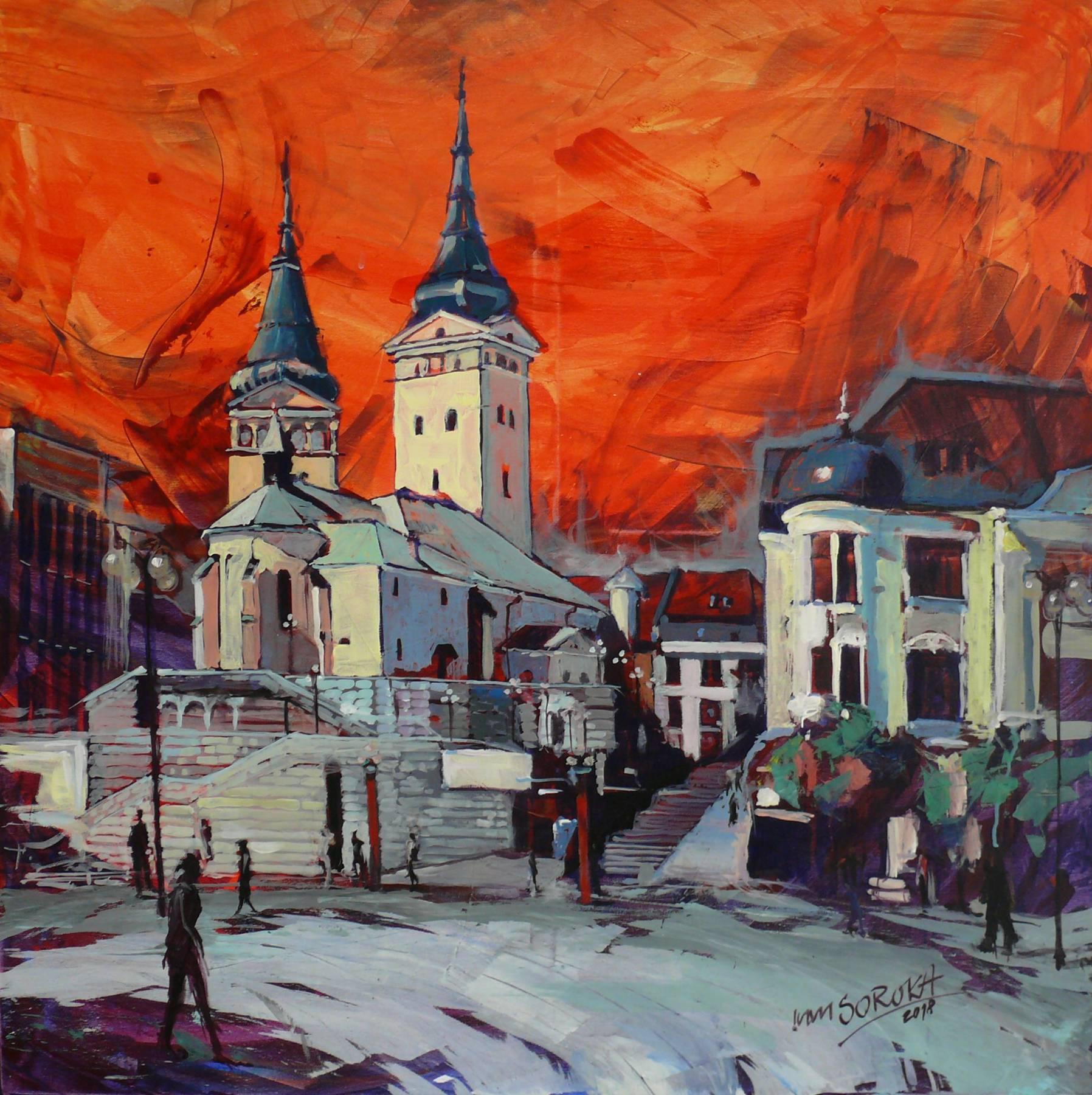 Ivan Soroka – Žilina, akryl na plátne, 2018