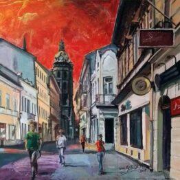 Ivan-Soroka-Košice-Mlynská-ulica-akryl-na-plátne-umelecke-dielo