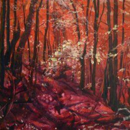 Ivan-Soroka-Zákutia-lesa-akryl-na-plátne-predajna-galeria