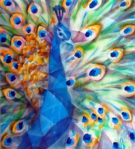 Stano-Barta-The-peacock-kombinovaná-technika-na-plátne-predaj-obrazov