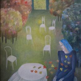 Běla-Kolčáková-Jeseň-olejomaľba-na-plátne-vytvarne-umenie