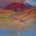 Miroslav Bucher – Portrét zeme – Dominanta, olejomaľba na plátne, 100 x 100 cm