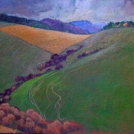 Miroslav-Bucher-–-Portrét-zeme-–-Klin-olejomaľba-na-plátne-umelecke-dielo