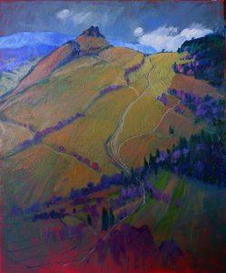 Miroslav-Bucher-–-Portrét-zeme-–-Na-stráži-olejomaľba-na-plátne-umelecke-dielo
