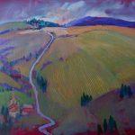 Miroslav Bucher – Portrét zeme – Po zime, olejomaľba na plátne, 60 x 80 cm