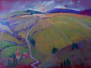 Miroslav-Bucher-–-Portrét-zeme-–-Po-zime-olejomaľba-na-plátne-predajna-galeria