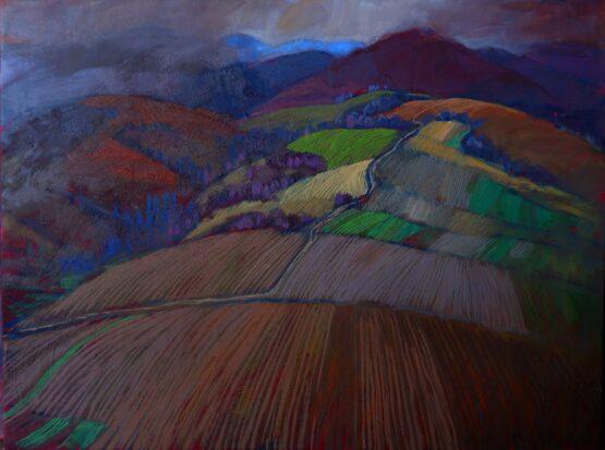 Miroslav-Bucher-–-Portrét-zeme-–-Predjarie-olejomaľba-na-plátne-sucasne-umemie