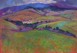 Miroslav-Bucher-–-Portrét-zeme-–-Prvá-zelená-olejomaľba-na-plátne-slovensky-umelec
