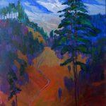 Miroslav Bucher – Portrét zeme – Rúbanisko, olejomaľba na plátne, 100 x 70 cm