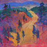 Miroslav Bucher – Portrét zeme – Stromy, olejomaľba na plátne, 70 x 100 cm