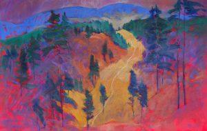 Miroslav-Bucher-–-Portrét-zeme-–-Stromy-olejomaľba-na-plátne-vytvarne-umenie