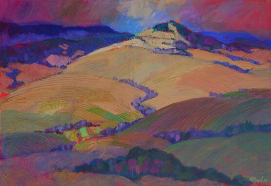 Miroslav-Bucher-–-Portrét-zeme-–-Svetlo-a-tieň-olejomaľba-na-plátne-slovensky-maliar