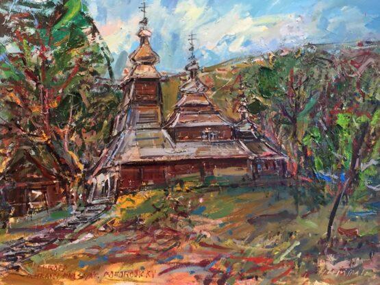 Hubert-Čepiššák-–-Miroľa-olejomaľba-na-plátne-dreveny-kostolik